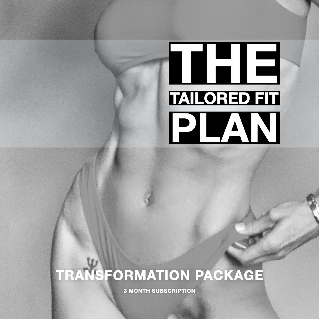 THE TAILORED FIT WORKOUT PLAN Bossfit Online Personal Fitness Training Ashley Wingate Plan 3 Transformation Package