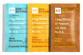RX Nut Butter Packets Best high protein snack foods list by Ashley Wingate Online Personal Fitness Trainer Bossfit Customized Workout Plans
